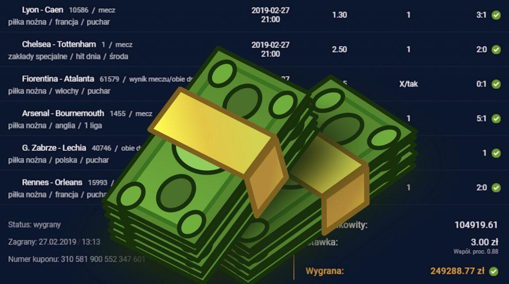 STS rekordowa wygrana. Gracz zarobił 1.25 mln PLN!