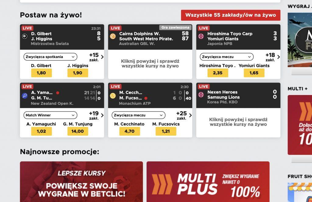 Co można obstawiać w BetClic w Polsce?