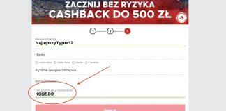 """Kod promocyjny BetClic. Wpisujesz """"KOD500"""" i zgarniasz 500 PLN!"""