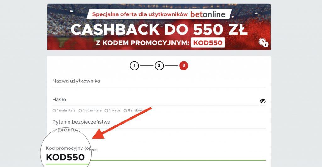 Betclic kod promocyjny KOD550. Do odebrania jest aż 550 złotych - cashback największy w Polsce!